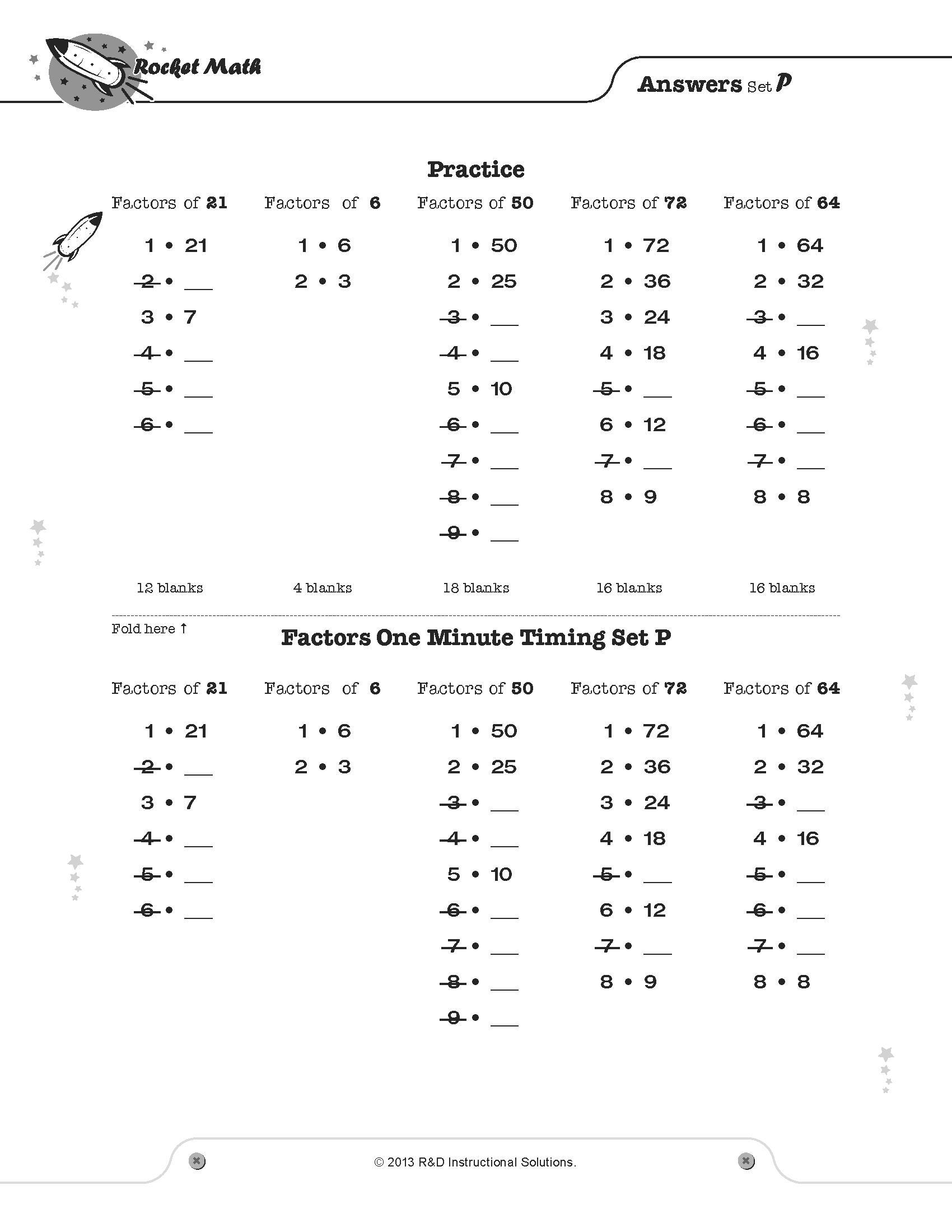 Rocket Math Addition Worksheets math worksheets multiplication and – Rocket Math Addition Worksheets