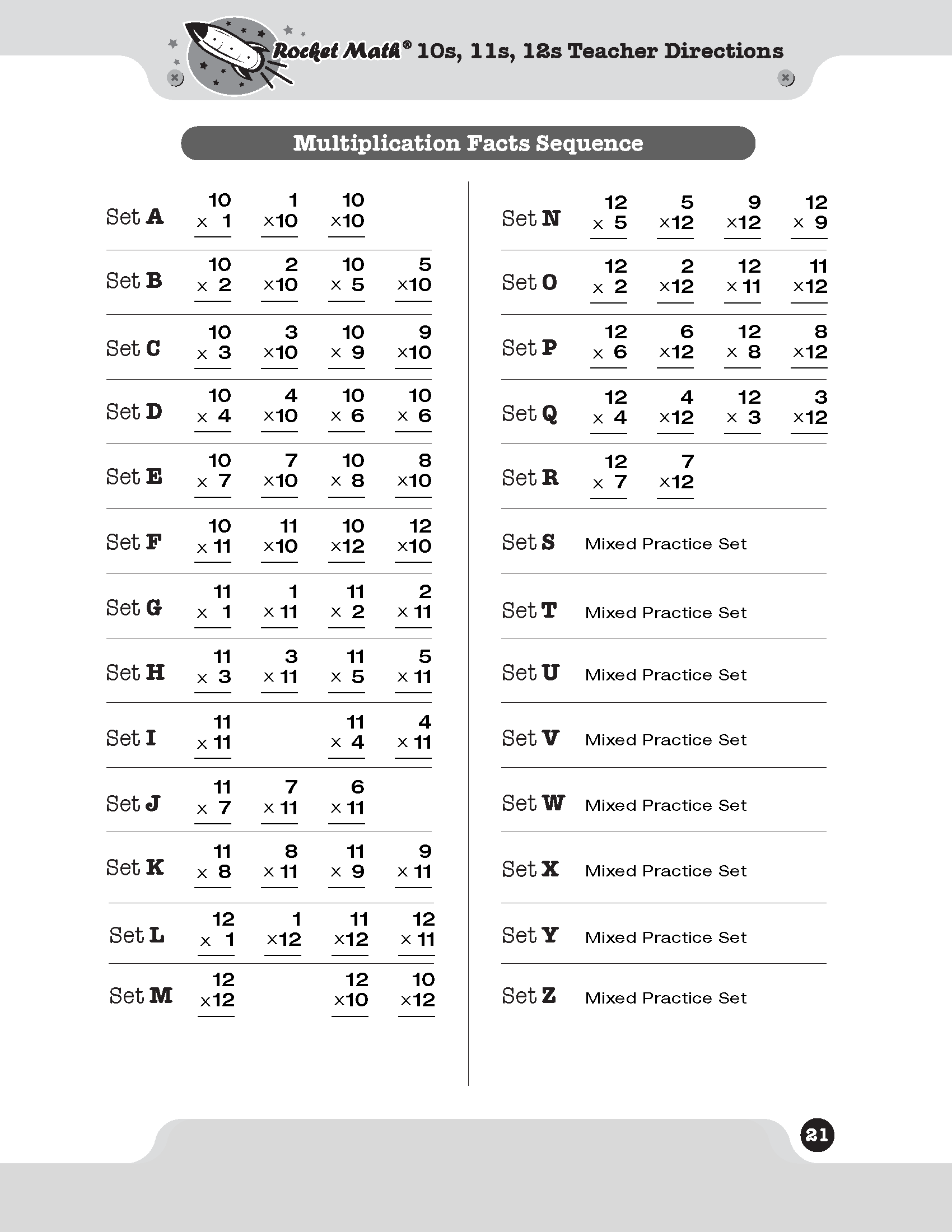 Math Worksheets Multiplication Davezan – Rocket Math Worksheets